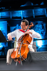 Ono playing cello